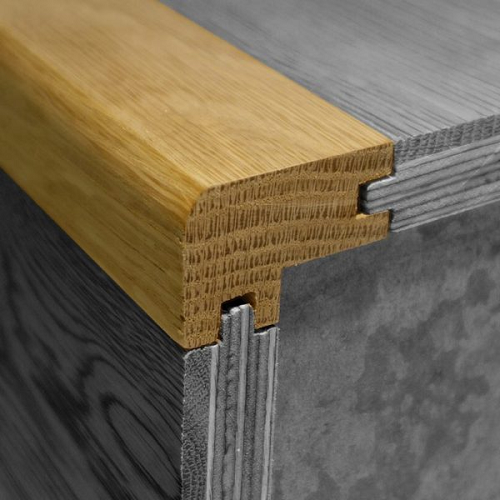 REAL SOLID WOOD PROFILE FLUSH FIT STAIR NOSING